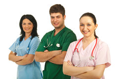 Doctor man with nurses Stock Image