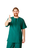 Doctor man showing a thumbs up or OK Royalty Free Stock Image