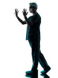 Doctor man silhouette portrait Stock Images