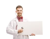 Doctor man with stethoscope Royalty Free Stock Images