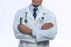 doctor manlign Arkivfoto