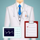 Doctor on medical background Royalty Free Stock Photo