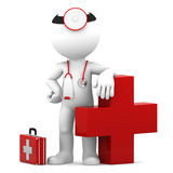 Doctor with medical cross symbol Royalty Free Stock Image