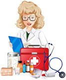 Doctor and medical equipments Royalty Free Stock Image