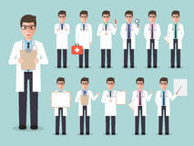 Doctor, medical and hospital staff characters. Stock Photography