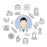 Doctor medical icons Royalty Free Stock Image