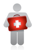 Doctor with a medical kit Stock Photo