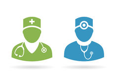 Doctor medical pictogram Stock Photography