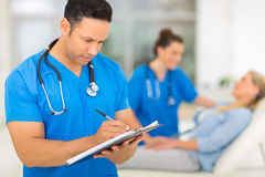 Doctor medical report Royalty Free Stock Image