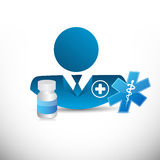 Doctor, medical signs and prescription pills. Isolated illustration design graphic Stock Images