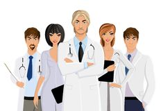 Doctor with medical staff Royalty Free Stock Photos