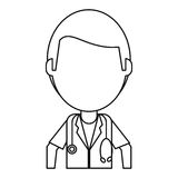 Doctor medical  stethoscope thin line Stock Photos