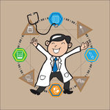 Doctor medicine information graphic cartoon Stock Photo