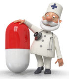 The doctor with medicine Stock Images