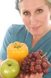 doctor medicinska sjuksköterskagrönsaker för kvinnlign Royaltyfria Bilder