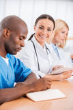 Doctor at the meeting. Royalty Free Stock Photo