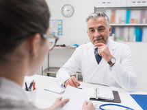 Doctor meeting with a patient Royalty Free Stock Photo
