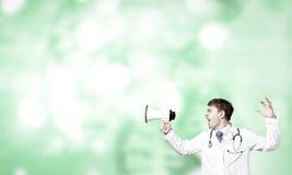 doctor megafonen Royaltyfria Bilder