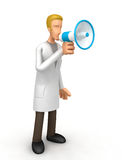 Doctor with a megaphone Royalty Free Stock Photography