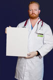 Doctor with message board Stock Photography