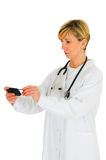 Doctor with mobile Royalty Free Stock Image