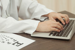 Doctor and modern technology Stock Image