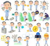 Doctor About the money. Set of various poses of Doctor About the money Stock Photos