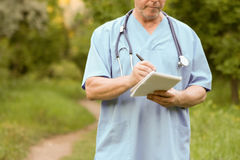 Doctor and nature concept. THE DOCTOR royalty free stock image