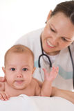 Doctor with newborn Royalty Free Stock Photo