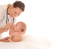 Doctor with newborn Stock Photos