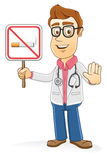 Doctor - No smoking sign Royalty Free Stock Images