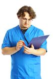 Doctor with notepad Stock Photography