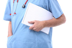 Doctor with a notepad Royalty Free Stock Photography