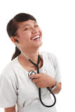 Doctor or nurse Royalty Free Stock Images