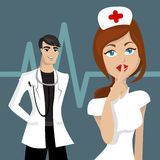 Doctor and nurse Royalty Free Stock Image