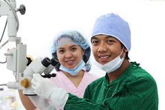 Doctor and nurse. Asian doctor and nurse inside the operating room Royalty Free Stock Image