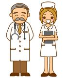 Doctor and nurse. This is an illustration of a doctor and nurse Stock Photography