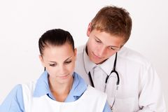 Doctor and nurse Royalty Free Stock Photography