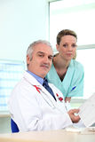 A doctor and nurse Royalty Free Stock Image