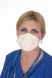 Doctor or Nurse 4. Headshot photo of nurse or doctor with stethoscope and surgical mask stock photography