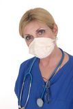 Doctor or Nurse 5. Headshot photo of nurse or doctor with stethoscope glasses and surgical mask stock photos