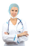 Doctor or nurse assistant with stethoscope Stock Image
