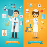 Doctor And Nurse Banner Stock Photo