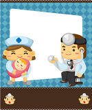 Doctor and nurse card Royalty Free Stock Images