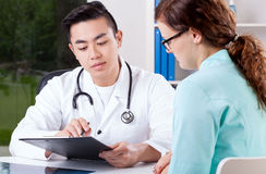 Doctor and nurse consultation Royalty Free Stock Photo