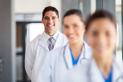 Doctor nurse group. Happy group of doctor and nurse portrait in hospital office Royalty Free Stock Photo