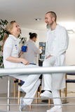Doctor and nurse having a break Royalty Free Stock Photo