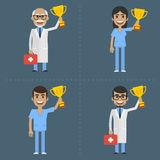 Doctor and nurse holding cup Royalty Free Stock Photo