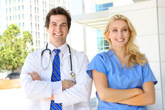 Doctor and Nurse at Hospital Royalty Free Stock Photo