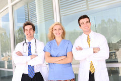Doctor and Nurse at Hospital Royalty Free Stock Photos